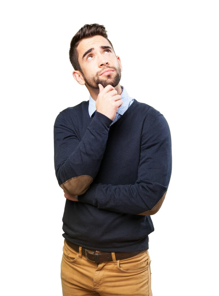 Gondolkodó férfi kép bejegyzésbe