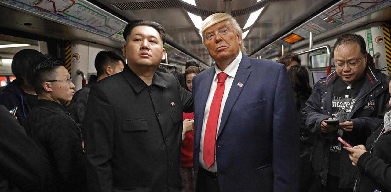 Trump és Kim Dzsong Un a dél-koreai metrón kép bejegyzésbe