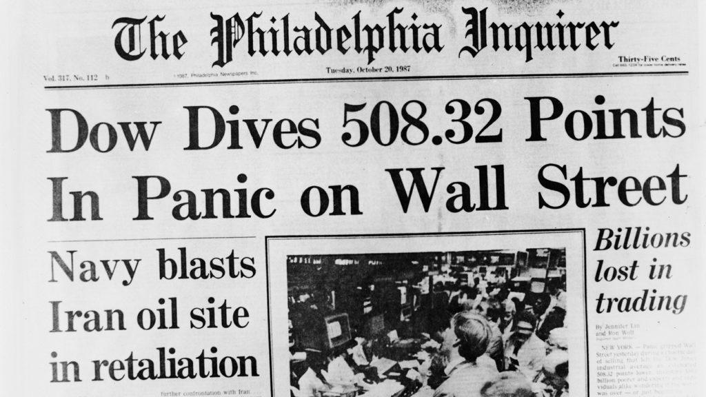 Fekete hétfő főcím az újságban kép bejegyzésbe