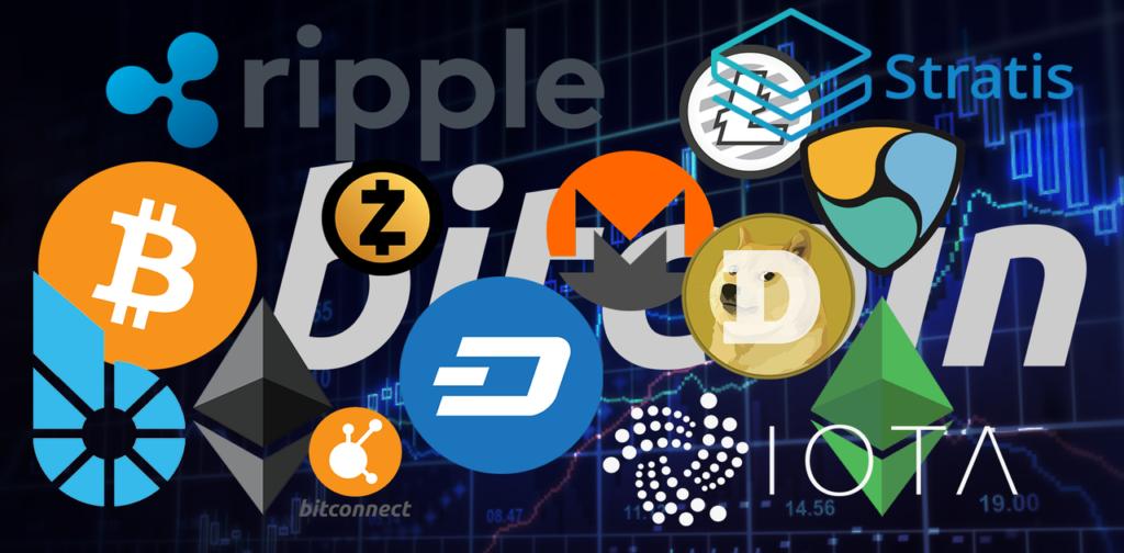 Kryptodeviza logók kép bejegyzésbe