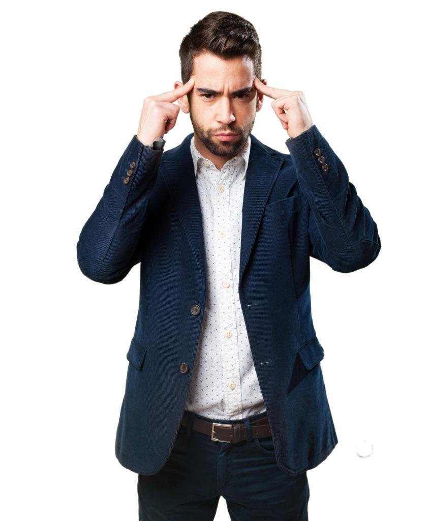 Koncentráló férfi kép bejegyzésbe