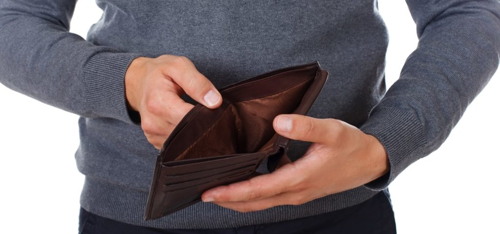 Üres pénztárca kép bejegyzésbe