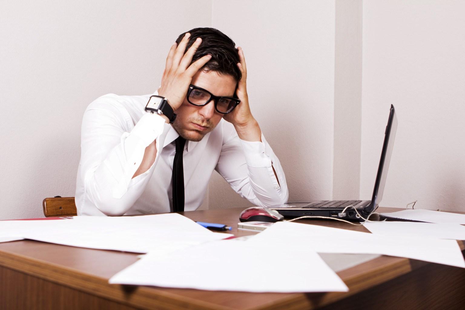 Stresszes trader kép bejegyzésbe