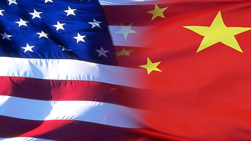 Amerikai és kínai zászló kép bejegyzésbe