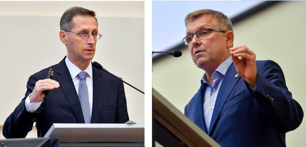 Varga Mihály és matolcsy György nyilatkozik