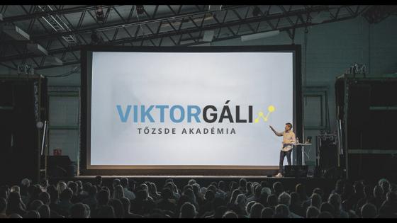 Viktor Gáli Tőzsde Akadémia leleplezése